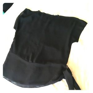 Guess Sheer Blouse with Side Tie